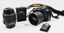 Nikon D5100 camera With Nikkor 35mm 1.8G prime lens And AF-S NIKKOR 18-55mm Kit