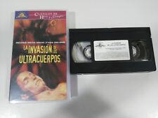LA INVASION DE LOS ULTRACUERPOS SUTHERLAND GOLDBLUM TERROR VHS CINTA CASTELLANO