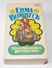 VTG Erma Bombeck Paperback Box Set 4 Hilarious Bestsellers Wit's End Grass Green