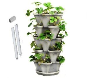 5 Tier Vertical Garden Stackable Planters (Medium 33cm) - Mr Stacky Australia