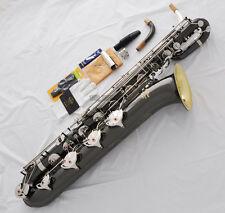 2018 New TaiShan Gold Bell Eb Baritone Saxophone Black nickel Silver Sax ABALONE