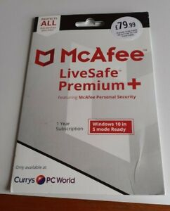 McAfee LiveSafe Premium + 1 year Subscription
