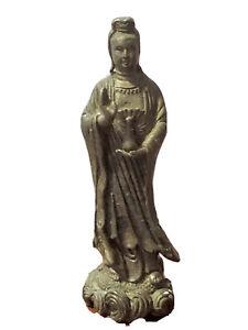 Statue of Kwan-yin/Guan Yin Boddhisattva Holding Healing Vase