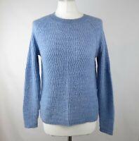 Jigsaw Pale Blue Wool & Alpaca Blend Jumper Small UK 10 Soft Cosy