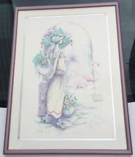 Mary Vickers 1940 Signed Artist Proof AFTERNOON RENDEZVOUS Framed Art Flamingos