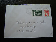 FRANCE enveloppe 1980(vignette de protestation bretigny sur orge)(cy3)french(G)