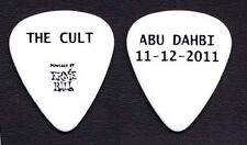 The Cult Abu Dhabi White Guitar Pick - 2011 Tour