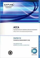 (Good)-ACCA F9 Financial Management FM: ACCA paper F9: Complete Text (Acca Compl