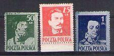 POLOGNE POLSKA Yvert n° 427/429 neuf sans gomme