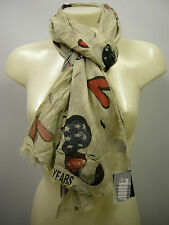 Pashmina sciarpa scarf SWEET YEARS art.LF51 colore 1 beige Italy