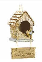Folk Art Welcome Birdhouse