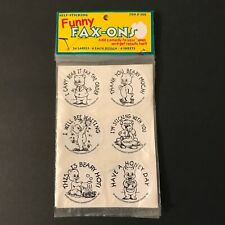 2-Sets VTG 1999 Self-Sticking Funny Fax-Ons 48-Lables, 8-Designs and 8-Sheets