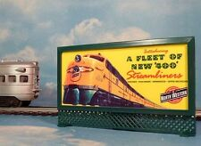 CHICAGO NORTH WESTERN C&NW * LIGHTED BILLBOARD AD for AF, LIONEL O / O-27 TRAINS