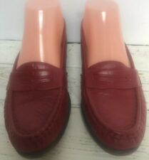 SAS Wink Red Comfort Leather Moccasin Penny Loafers Sz  6.5M Flat Slip On