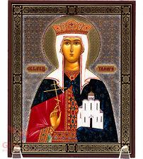 "Wooden Icon of Saint Tamar Queen of Georgia Икона Святая Тамара 5.1"" x 6.2"""