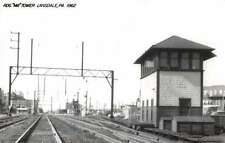 Lansdale Pennsylvania 1962 Reading MA Tower train depot real photo pc Z30284