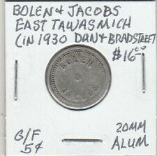 Token - East Tawas, MI - Bolen & Jacobs - G/F 5 Cents - 20 MM Aluminum