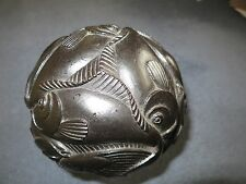 "RARE - SCULPTURE MC ESCHER Sphere with Fish Polyester Resin 13 cm 5 ¼"" 1972"