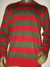Lg A Nightmare On Elm St Street Movie Freddy Krueger Knit Stripe Costume Sweater