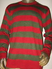 Nwt Lg A Nightmare On Elm St Street Freddy Krueger Knit Stripe Costume Sweater