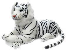 Tiger Medium Soft Plush Toy With Sound ~ White