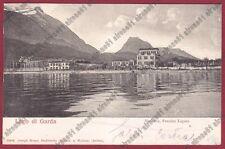BRESCIA TOSCOLANO MADERNO 12 LAGO di GARDA Cartolina VIAGGIATA 1904