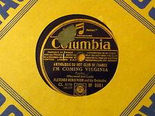 Disque 78 tours Columbia Fletcher Henderson I'm coming Virginia/The Whiteman