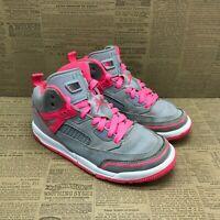 Nike Girls Air Jordan Spizike CJ7217-060 Gray Pink Sneakers Lace Up Size 13C