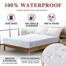 Premium Mattress Fitted Cover Topper Bed Protector Waterproof Soft King Size