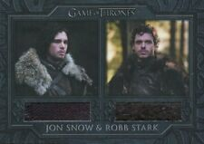 Game Of Thrones The Complete Series Dual Relic Card DC1 Jon Snow & Robb Stark