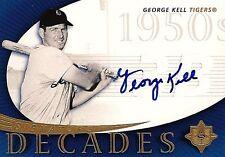 GEORGE KELL 2005 UD Decades Autograph HOF  Detroit Tigers