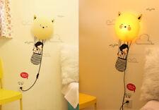 Nachtlicht Wandlampen mit abnehmbaren Wandstickern Wand-Tattoos Flying Girl Neu