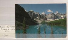POSTCARD, TEN PEAKS MORAINE LAKE ALBERTA CANADA POSTED 1974 6T30
