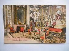 """CPA """"Le palais de Fontainebleau - Appartements du pape - Chambre à coucher"""""""