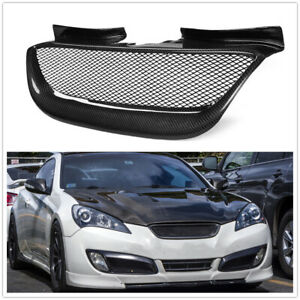 Carbon Fiber Front Bumper Mesh Grille Grill For Hyundai Genesis Coupe 2008-2012