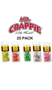 Strike King Mr. Crappie Jig Heads, 25 Pack, Choice of Size & Colors
