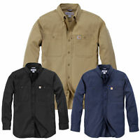 Carhartt Hommes Chemise Rugged Professionnel à Manches Longues Haut NEUF
