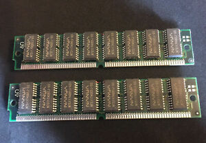 2x 32MB 72-pin 60ns EDO SIMM Non-Parity Memory 8x32 5V 64MB RAM Apple Macintosh