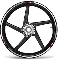 STRISCE ADESIVE compatibili per MOTO BMW S1000 RR adesivi CERCHI 17' tuning