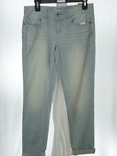 Jeans Women's AEROPOSTALE Distress/Striped Boyfriend cuffed Size 00R NWT