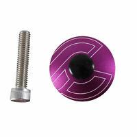 "Cinelli Top Cap Kit, Cinelli, 1-1/8"" Alloy Steerers, Purple"