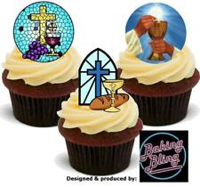 Novelty Holy Communion Mix B 12 STAND UP Edible Cake Toppers Decorations Cupcake