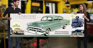 1954 Chevrolet Dealer Garage Banner 4 door Four Sedan 210 Two Ten