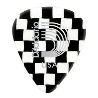 10 Checkerboard Celluloid Guitar Picks D'Addario Medium 1CCB4-10