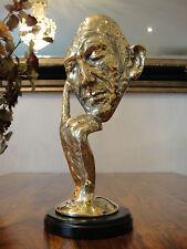 Bronze Marmor Denker Gold Abstrakt Luxus Maske Statue Skulptur Figur Büste Edel
