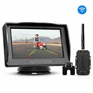 AUTO-VOX M1W Wireless Car Rear View Camera 4.3 inch LCD Set F/S w/Tracking# NEW
