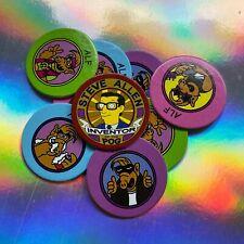 Alf Pogs Set & Steve Allen Inventor of Pog + Bart Simpsons Soul ☆ Remember Alf?