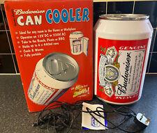 Budweiser Beer Can Shape Mini Fridge Food Warmer 12V 230V Portable Bar Camping