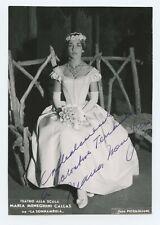 Maria CALLAS (Opera): Signed Photograph in La Sonnambula at La Scala (1)