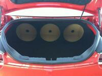 For a 12-15 Chevy Camaro - Custom Sub Box Subwoofer Speaker Enclosure - Triple